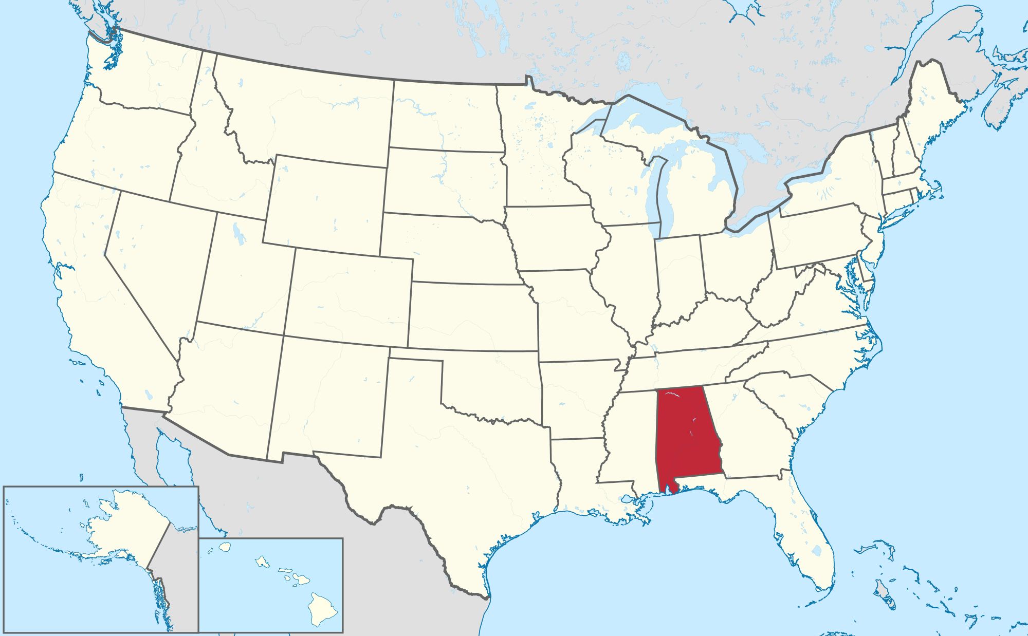 Alabama Usa Map My Blog Alabama State Map Political Map Of - Alabama in usa map